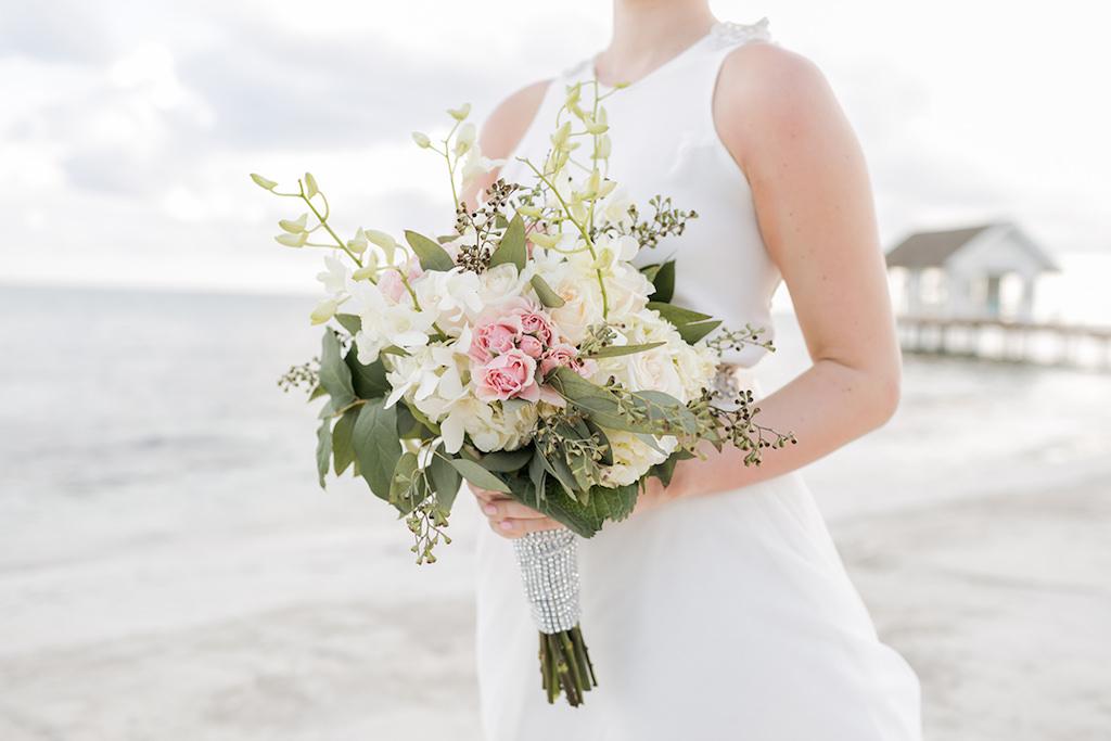 Sandals South Coast Jamaica Destination Caribbean Wedding Bouquet | Alexis June Weddings