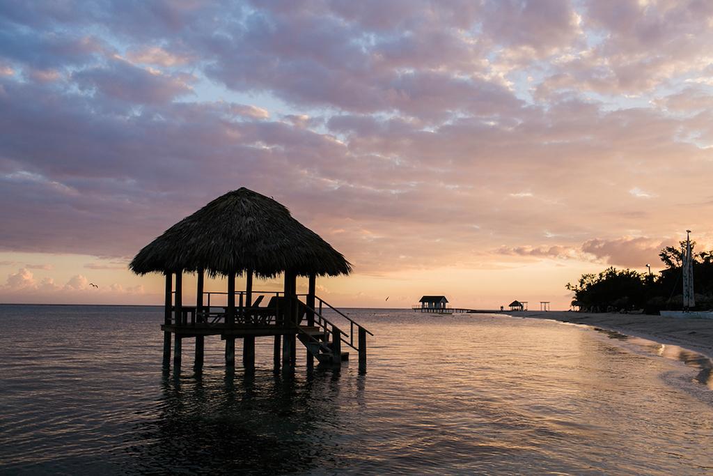 Sandals South Coast Jamaica Destination Caribbean Wedding and Honeymoon Resort Overwater Bungalow | Alexis June Weddings