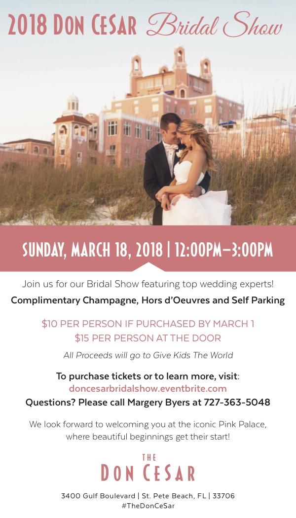2018 Don CeSar Bridal Show