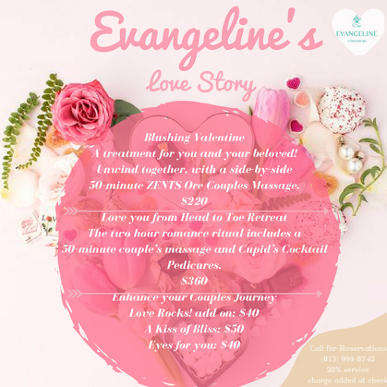 Spa Evangeline Valentines Day Flyer