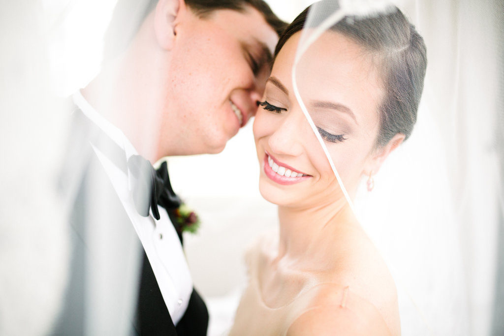 Outdoor First Look Wedding Portrait | Tampa Bay Bridal Hair and Makeup Femme Akoi Studio