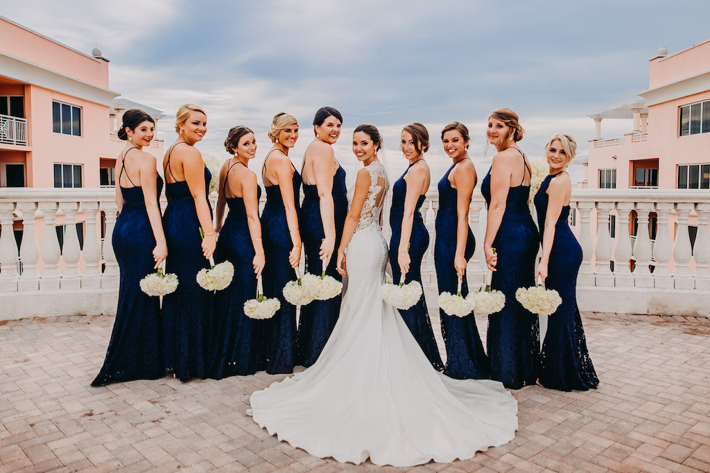 72784ad557b Outdoor Rooftop Bridal Party Portrait