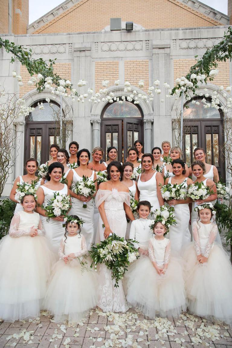 Classic White & Gold Tarpon Springs Greek Wedding
