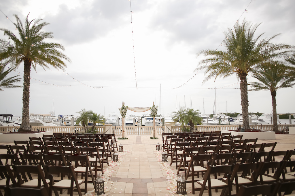 Swell Rustic Nautical Outdoor Waterfront Marina Wedding Ceremony Onthecornerstone Fun Painted Chair Ideas Images Onthecornerstoneorg