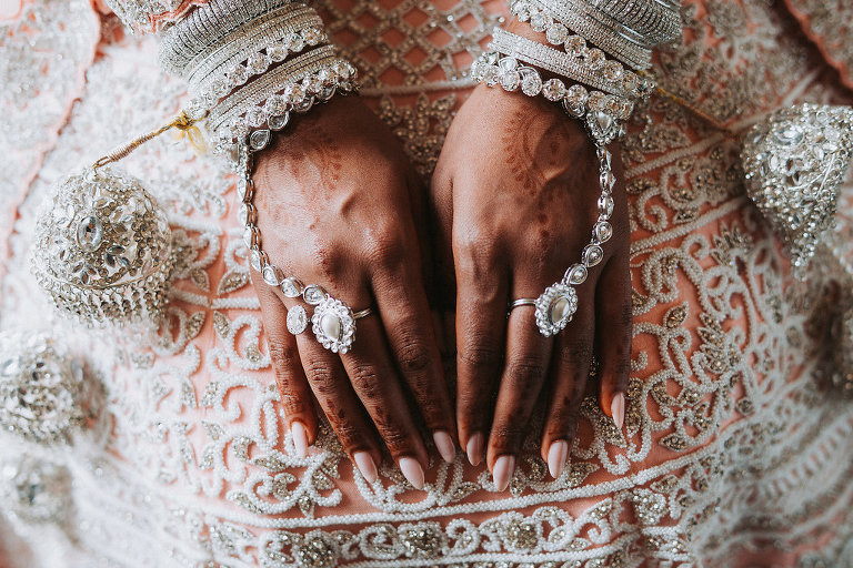 Traditional Hindu Indian Wedding Bridal Portrait with Henna Jewelry | Tampa Bay Wedding Photographer Grind and Press Photography