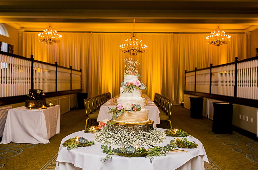 Elegant Pink And Green Nature Inspired Hotel Ballroom Wedding
