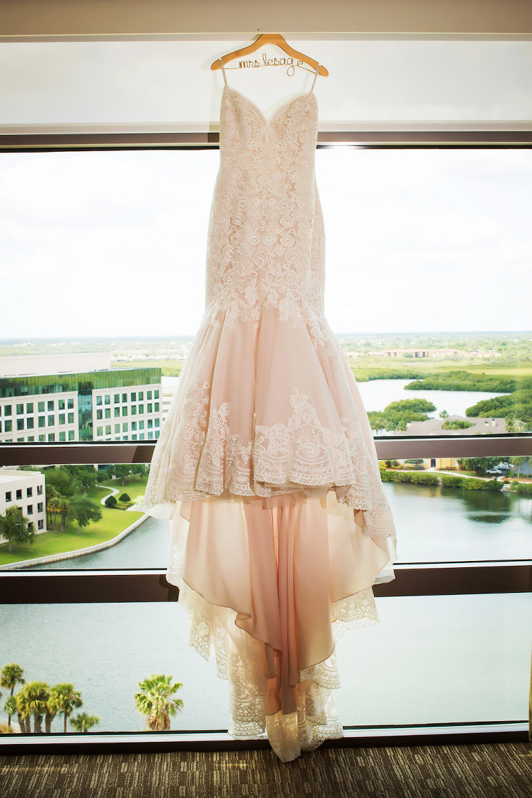 Elegant gold and ivory waterfront tampa wedding westin for Custom wedding dress bay area