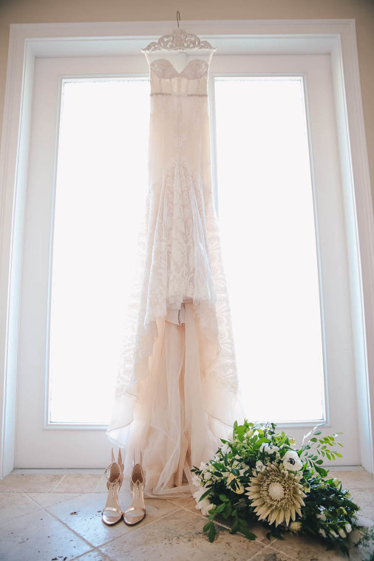 Inbal Dror Mermaid Wedding Dress on Hanger