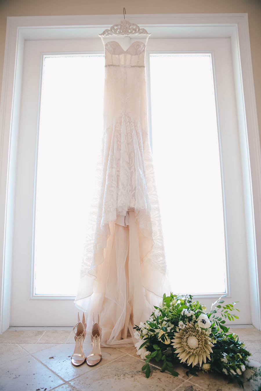 Inbal Dror Mermaid Wedding Dress on Hanger