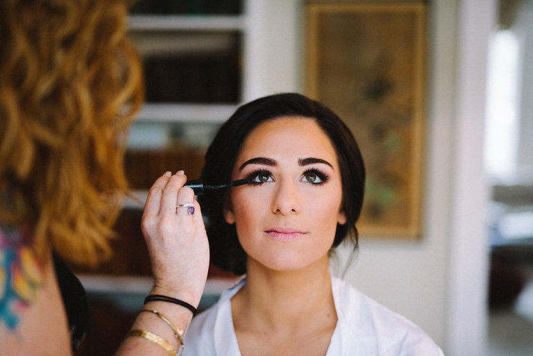 Bride Getting Ready Portrait | Tampa Bay Wedding Photographer Kera Photography | Wedding Hair and Makeup Femme Akoi Studio