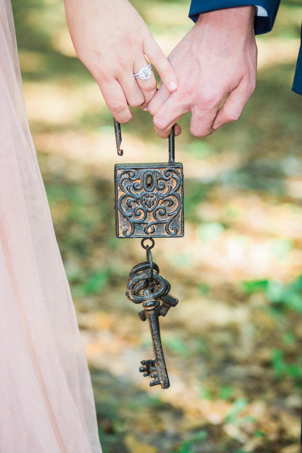 Bride and Groom Wedding Portrait United by Key