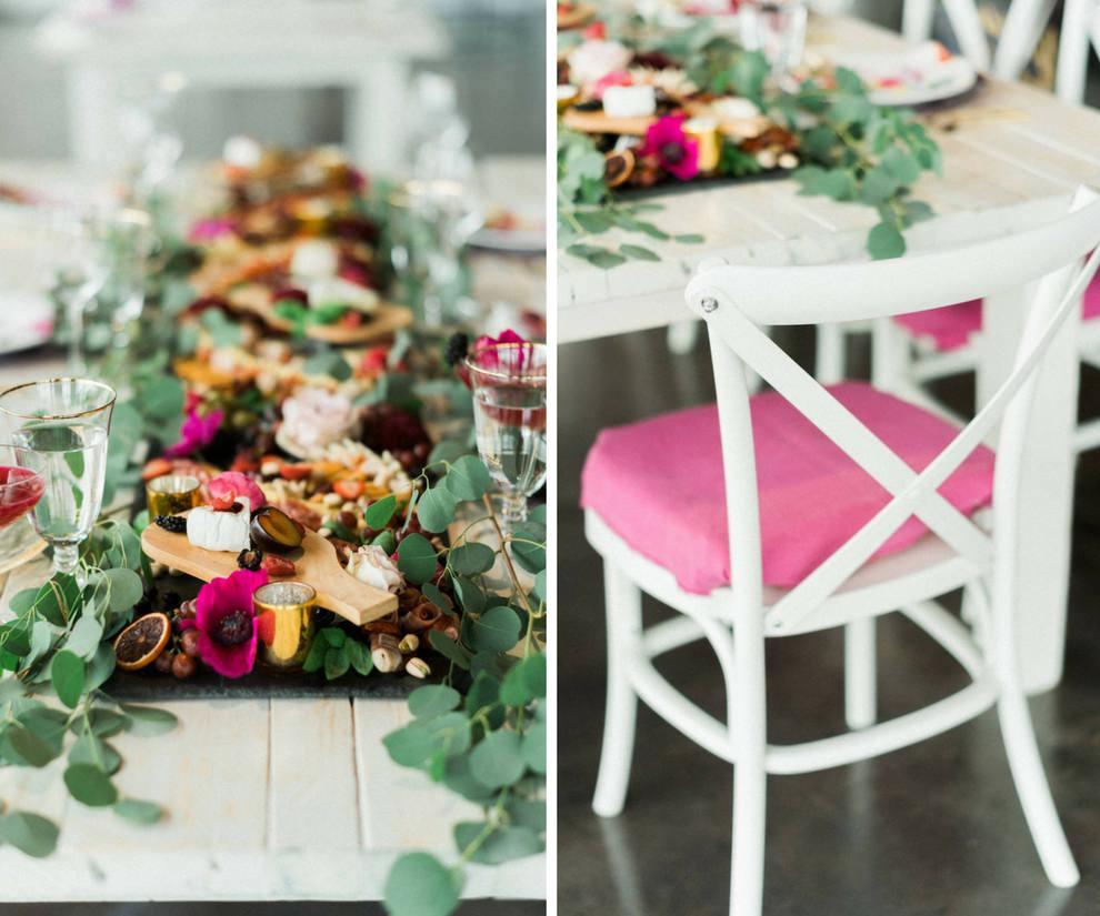 Strange Modern Fuchsia Wedding Reception Table With Charcuterie Home Interior And Landscaping Mentranervesignezvosmurscom