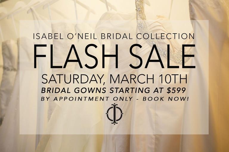 isabel o neil bridal wedding dress sample sale march 10th 2018