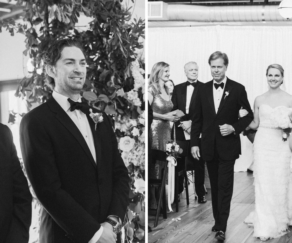 Indoor Industrial Garden Wedding Ceremony Portrait   Tampa Bay Wedding Photographer Ailyn La Torre   Venue The Oxford Exchange
