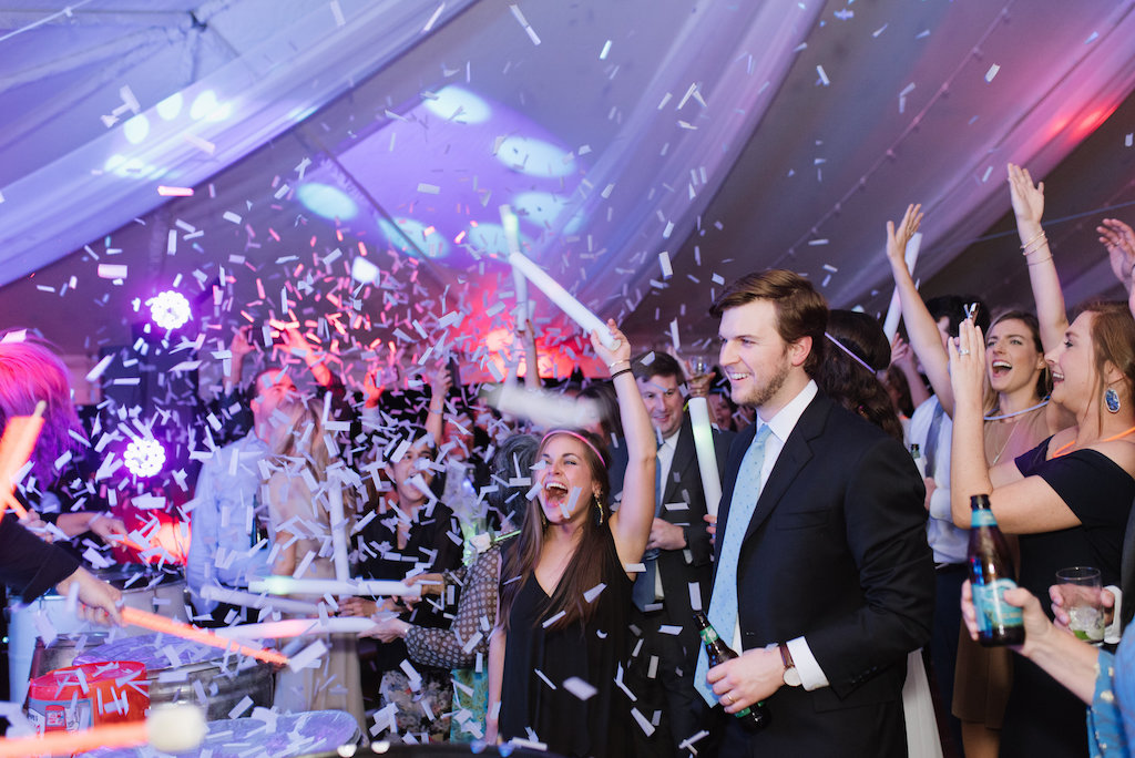 Confetti Wedding Reception Celebration