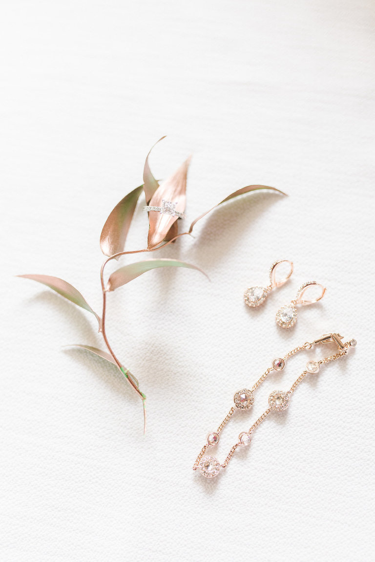 Rose Gold and Crystal Bridal Jewelry and Wedding Accessories