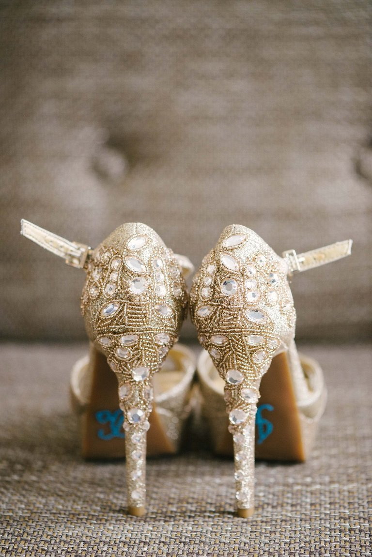 Rhinestone Beaded Stiletto Wedding Shoes