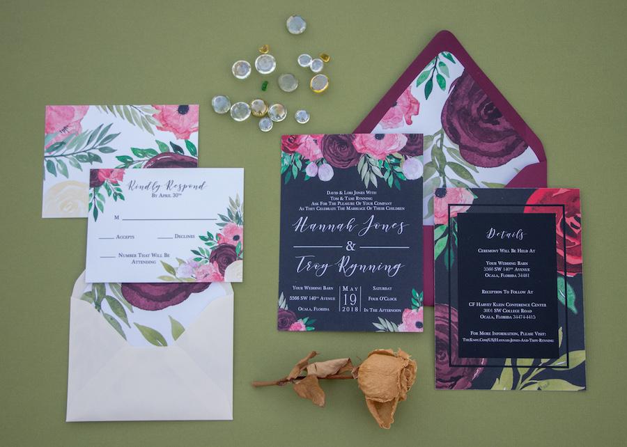 Custom Tampa Bay Wedding Invitations and Stationery | Sarah Bubar Designs