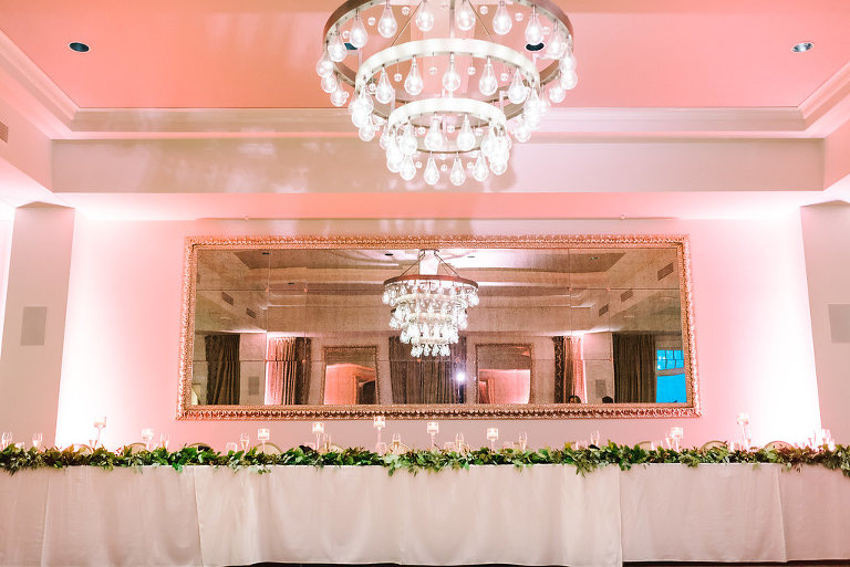 Superb Elegant Copper And White Downtown St. Pete Ballroom Wedding | The Birchwood