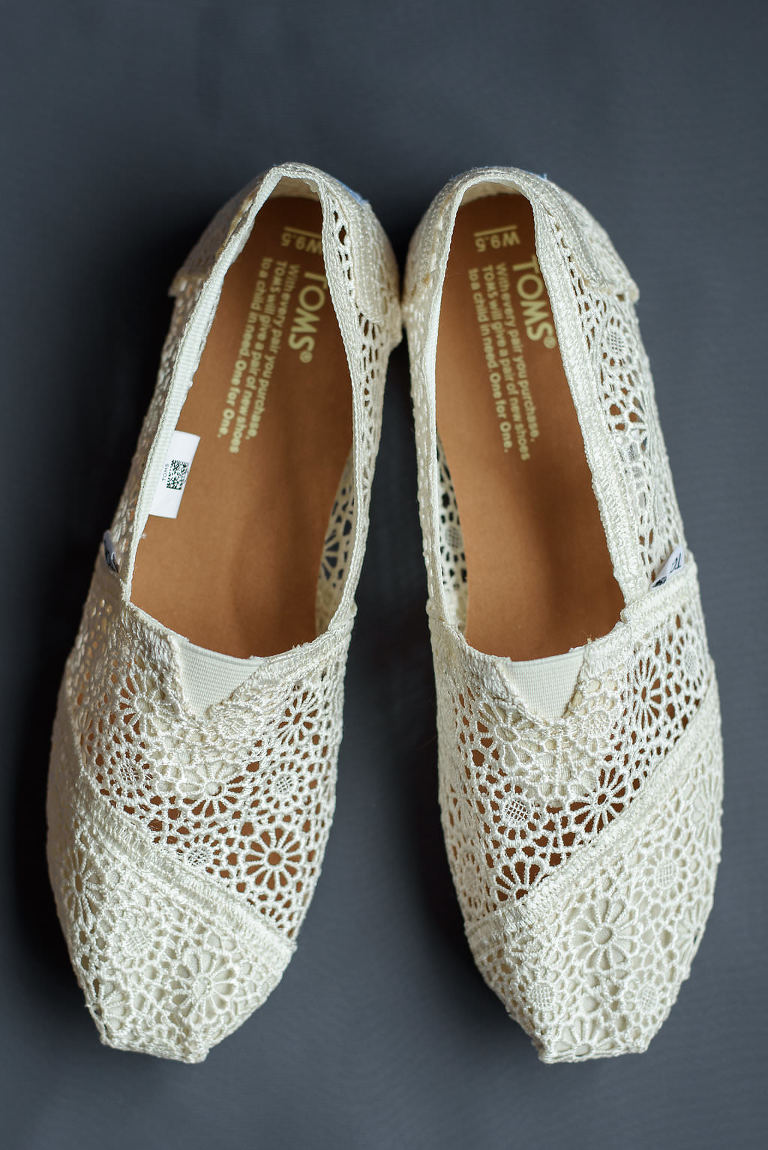 Lace Toms Beach Wedding Shoes
