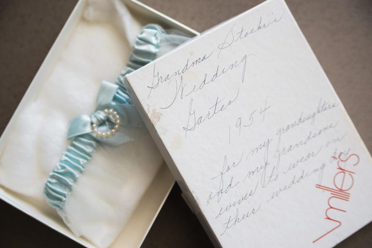 Family Heirloom Something Borrowed Blue Garter Bridal Wedding Accessory