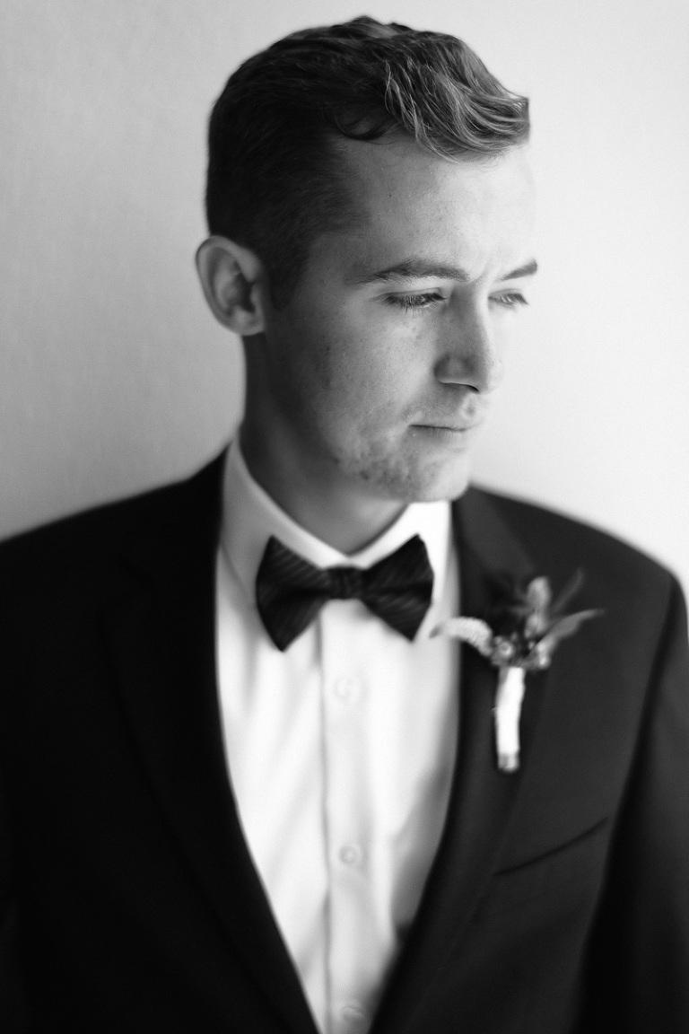 Groom in Tuxedo on Wedding Day