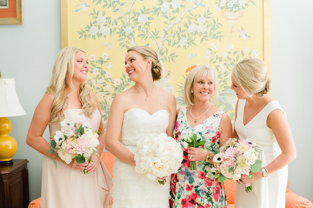 Bride and Sisters Wedding Day Portrait   Tampa Bay Wedding Photographer Ailyn La Torre Photography