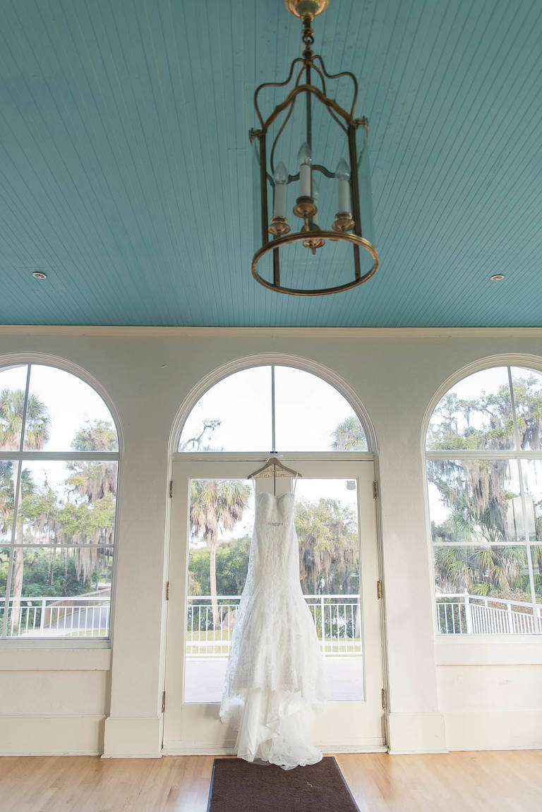 Allure Bridals Wedding Dress on Hanger | Sarasota Historic Wedding Venue The The Edson Keith Mansion