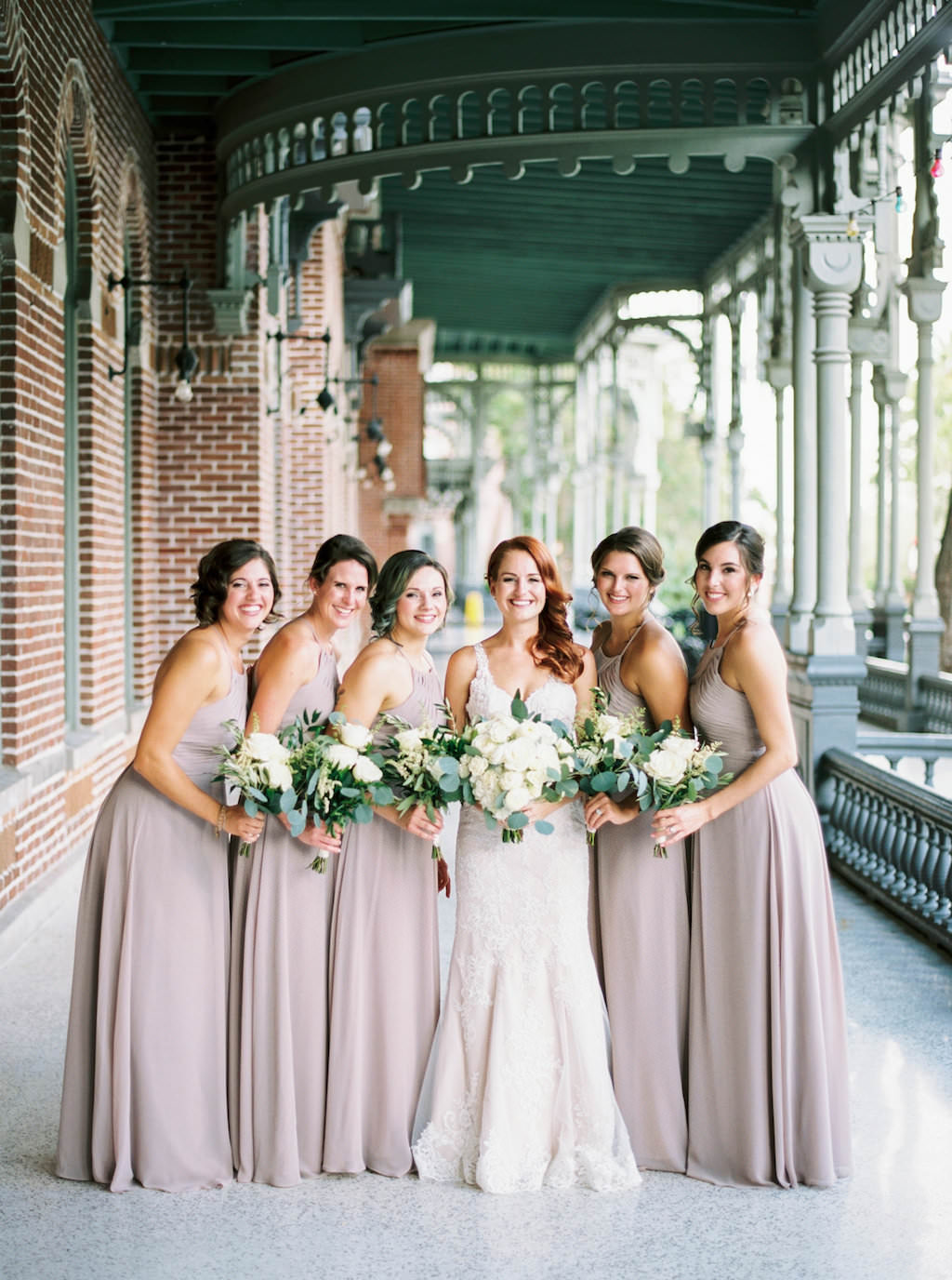 2c7589f590c Outdoor Downtown Tampa Bridal Party Portrait