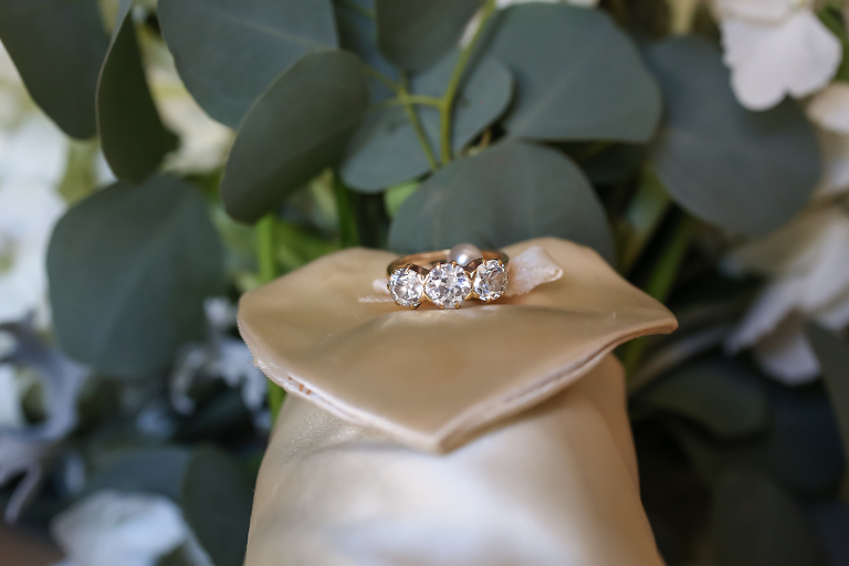 Three Diamond Wedding Ring