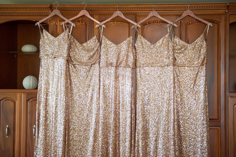 Gold Sequin Bridesmaids Wedding Dresses | Tampa Bay Bridesmaids Dress Shop Bella Bridesmaids