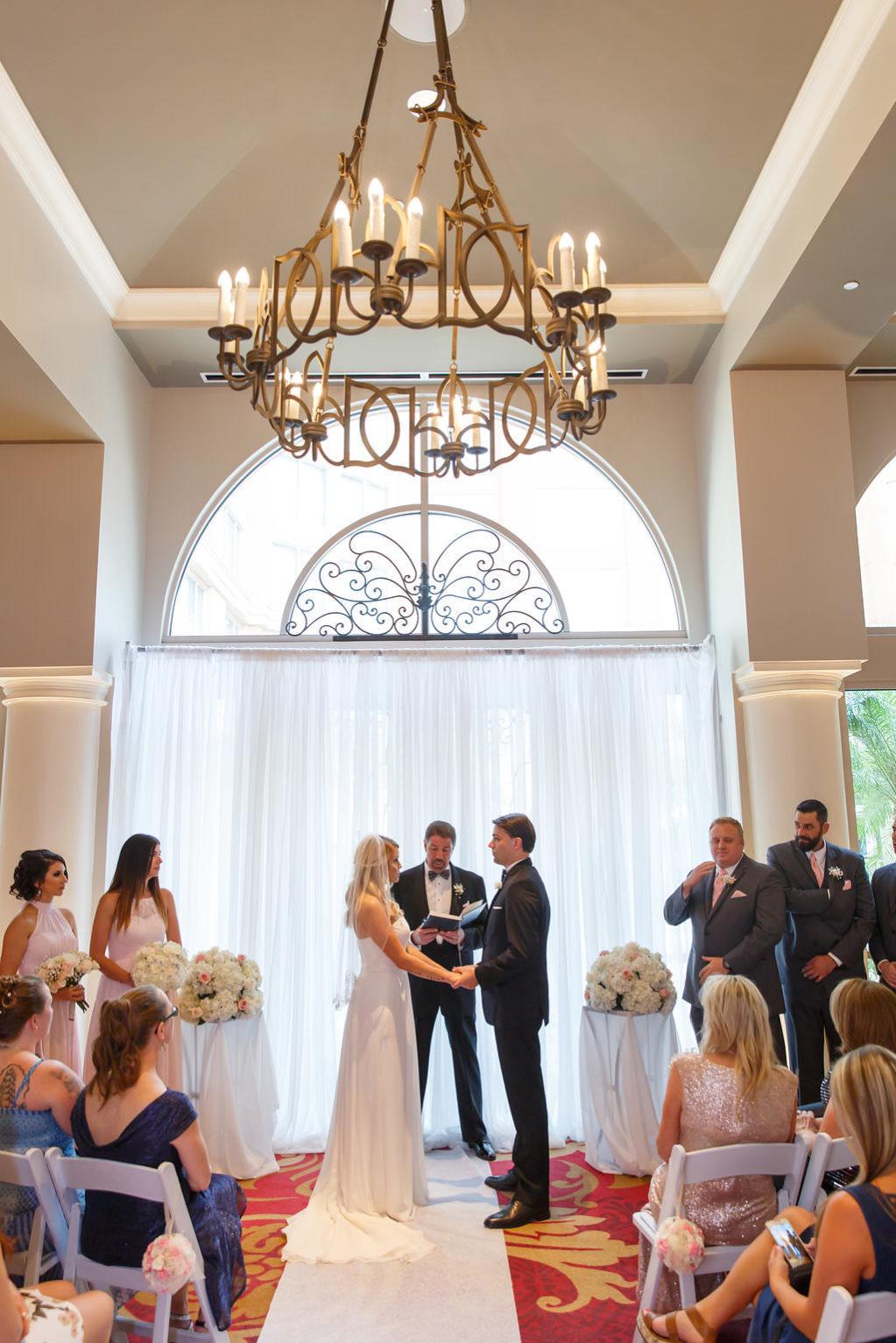 Indoor Hotel Wedding Ceremony Portrait   Hotel Wedding Venue The Tampa Renaissance