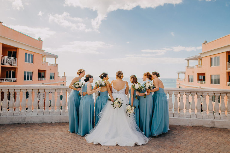 A Bright Waterfront Terrace With Gulf Breezes And Crystal Blue Water Set The Ambiance For Brittany Lj S Clearwater Beach Wedding
