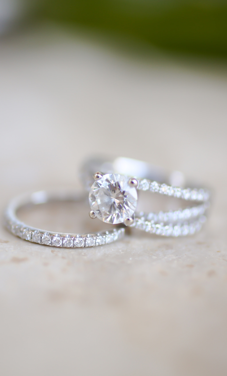 Diamond Wedding Band and Engagement Ring