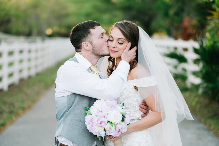 Lilac Rustic Chic Tampa Bay Wedding Southern Plantation