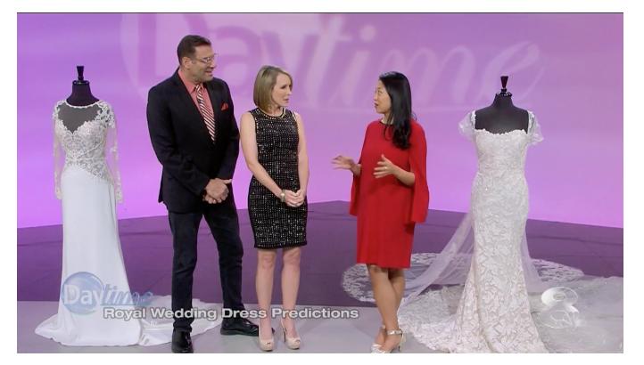Meghan Markle Royal Wedding Dress Predictions 2018 | Anna Coats Marry Me Tampa Bay on Daytime Tv