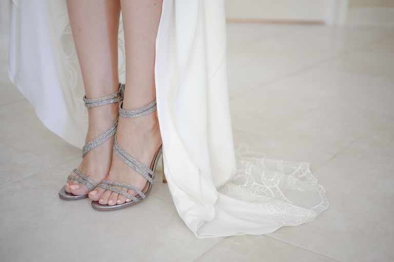 Silver Strappy Sandal Stiletto Wedding Shoes