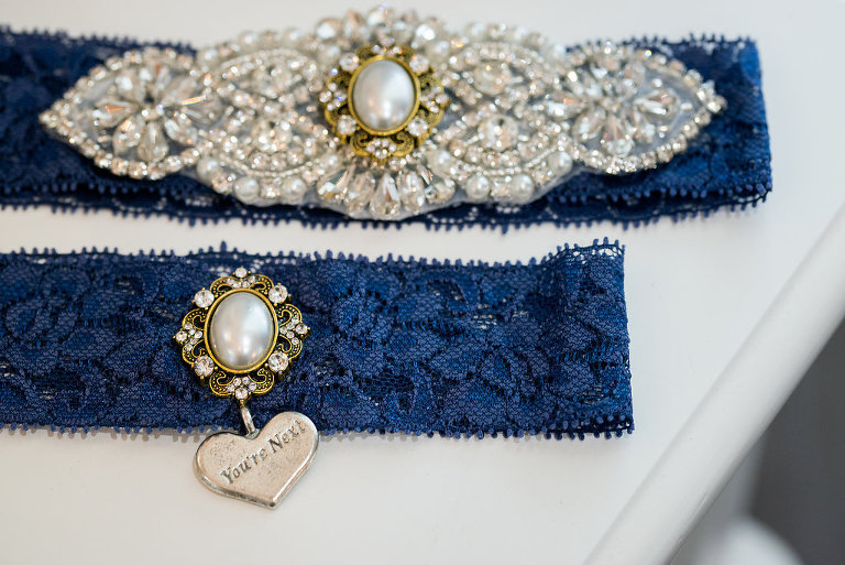 Blue Lace Garter and with You're Next Charm