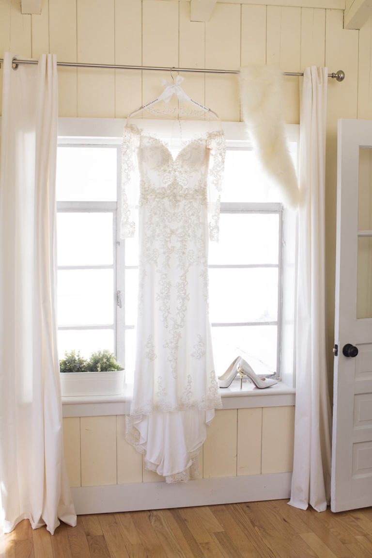 Brides by Demetrios Lace Longsleeve Dress on Hanger