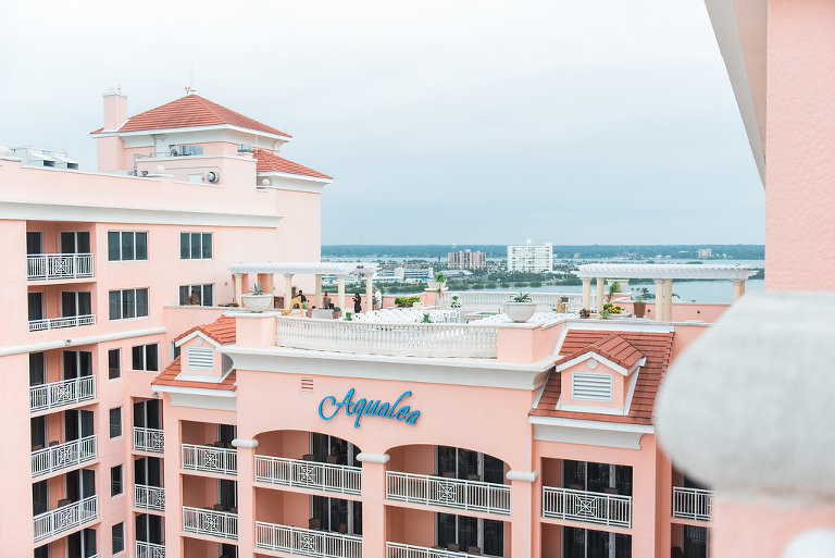 Waterfront Hotel Rooftop Elegant Wedding Ceremony Venue Hyatt Regency Clearwater Beach