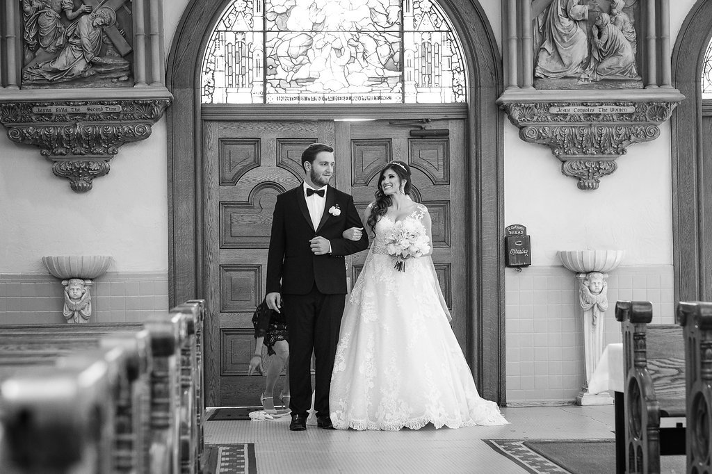 Wedding Ceremony Portrait at Downtown Tampa Traditional Wedding Ceremony Venue Sacred Heart Catholic Church | Tampa Bay Photographer Marc Edwards Photographs