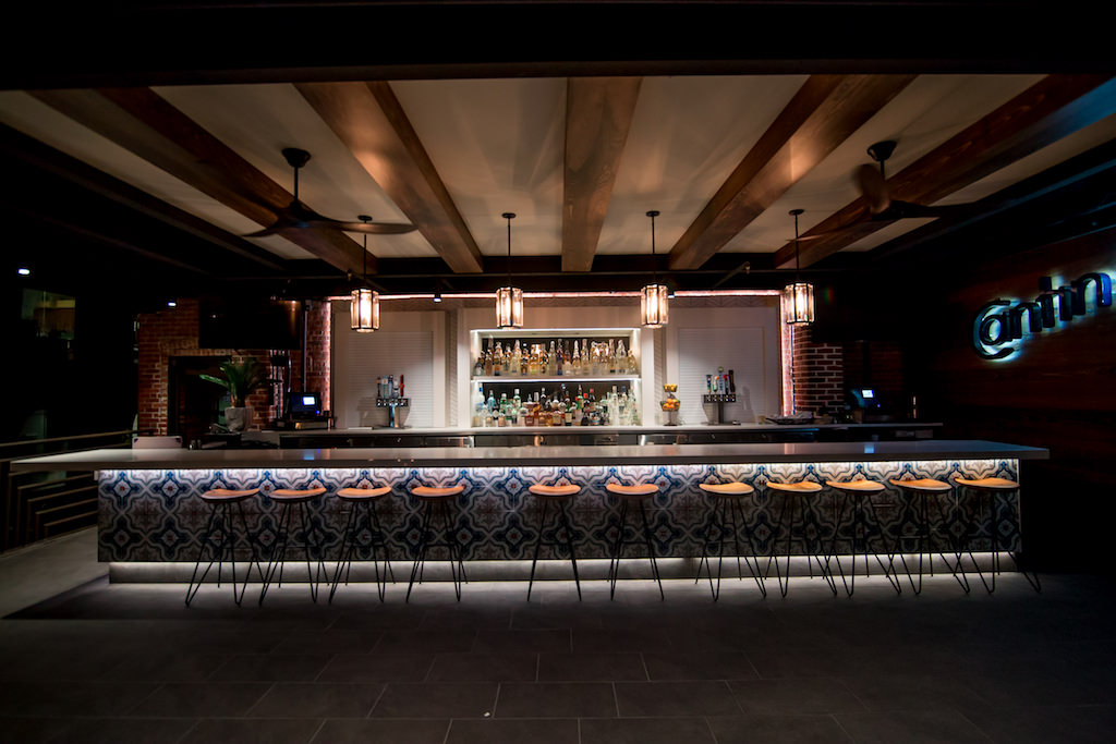 Downtown St Pete Modern Wedding Reception Venue Bar With Spanish