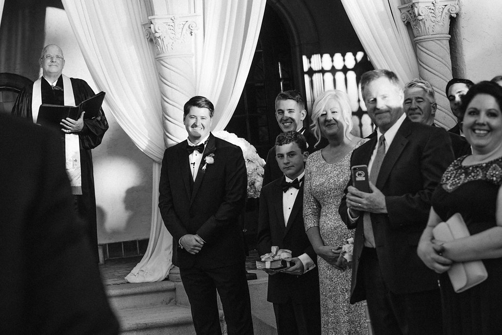 Groom's Reaction to Bride Walking Down the Wedding Aisle