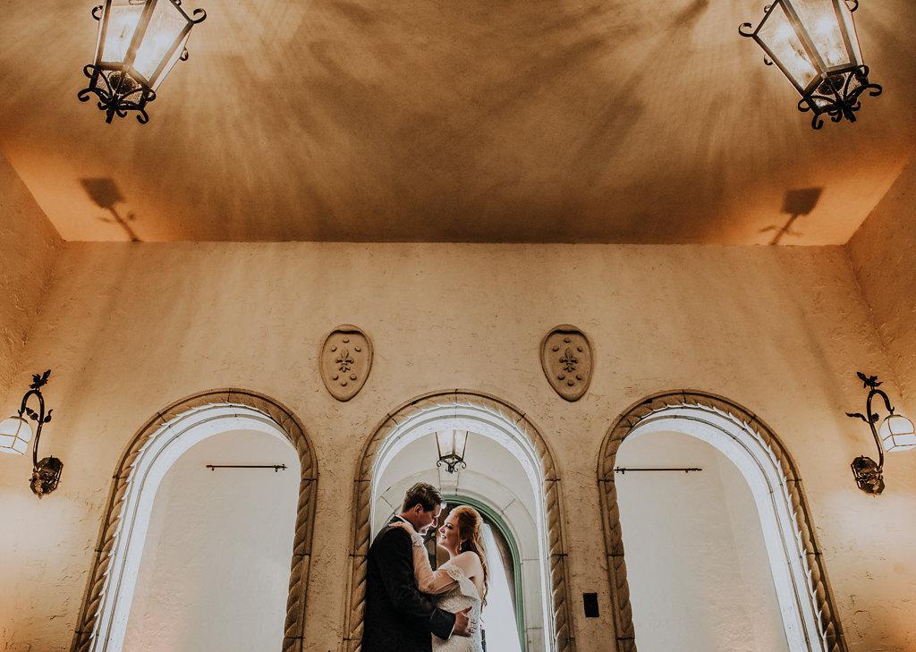 Architectural Wedding Portrait | Sarasota Wedding Venue Crosley Powel Estate