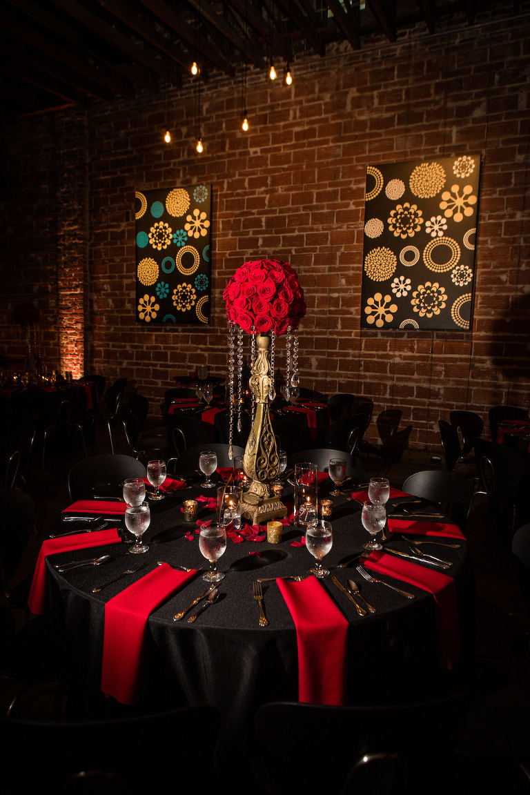 Elegant Black and Red 1920's Great Gatsby St. Pete Wedding | NOVA 535