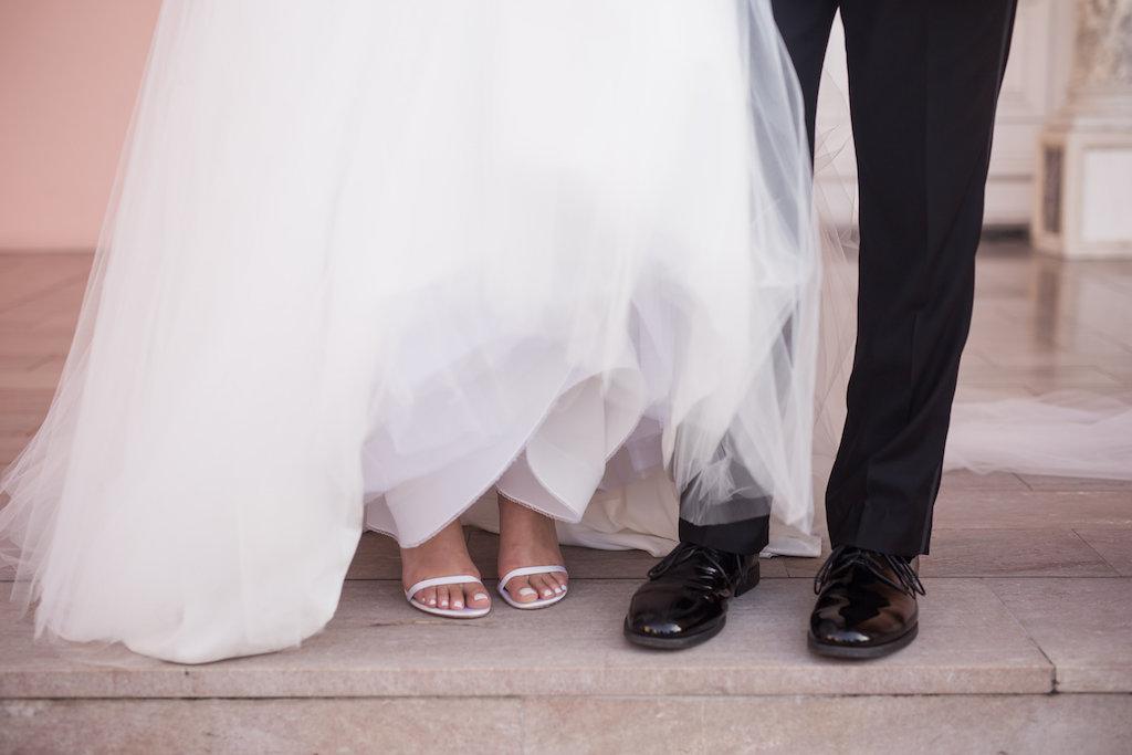 Bride and Groom Wedding Shoe Portrait | Sarasota Wedding Photographer Cat Pennenga Photography
