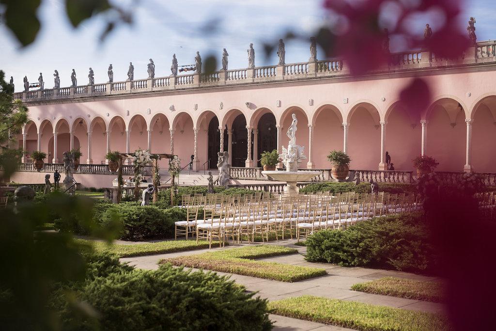 Outdoor Elegant Garden Wedding Ceremony | Sarasota Wedding Venue Ringling Museum | Planner NK Productions