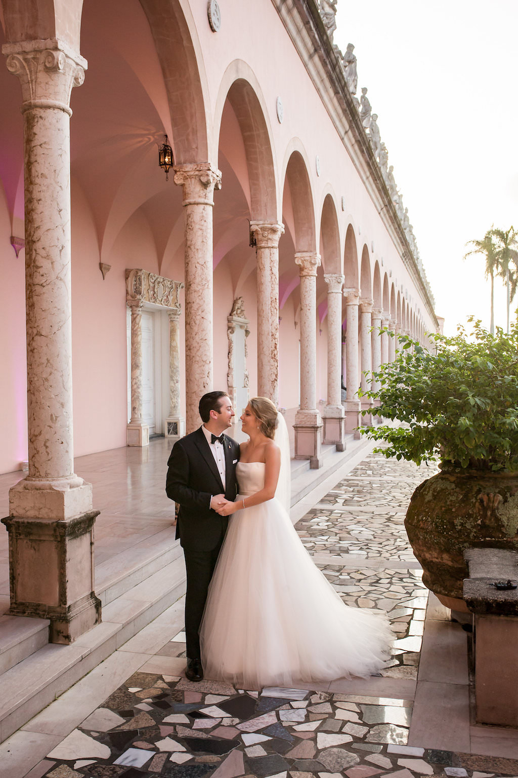 Bride and Groom Wedding Ceremony Portrait | Sarasota Wedding Photographer Cat Pennenga Photography | Planner NK Productions | Historic, Iconic Venue Ringling Museum
