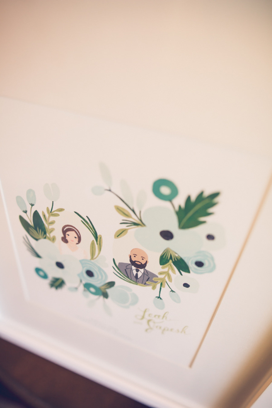 Custom Bride and Groom Illustration Painted Picture Guestbook   Tampa Bay Wedding Photographer Luxe Light Photography