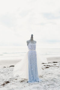 Tulle Skirt on | St. Pete Beach Wedding